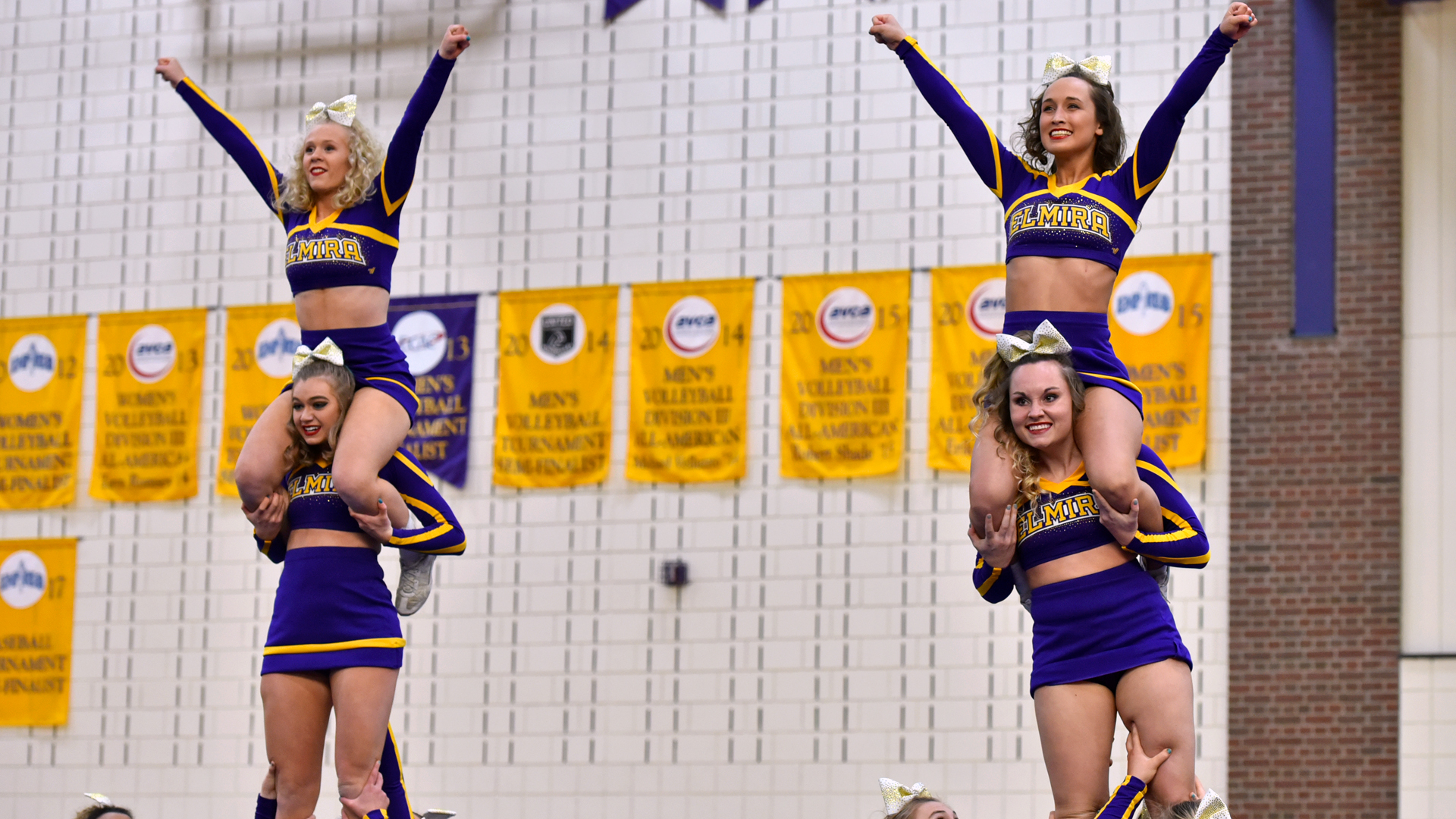 95e7196ee6 Cheerleading Finishes Fourth at 2018 NCA College Nationals - Elmira ...