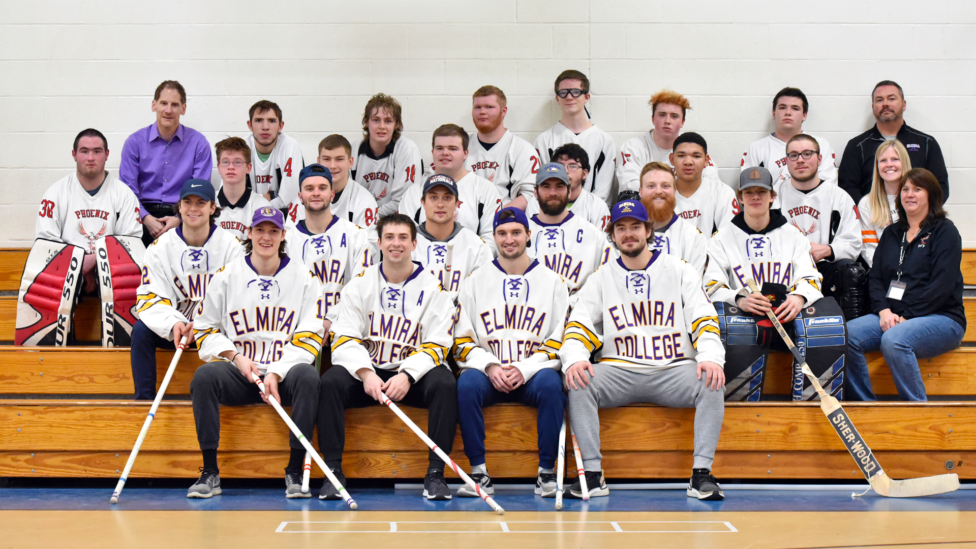 Soaring Eagles Visit Phoenix Academy For Annual Floor Hockey Game Elmira College Athletics